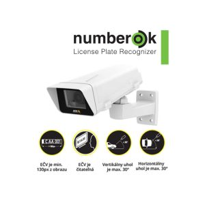 Exteriérový kamerový Set AXIS na identifikáciu evidenčných čísel vozidiel