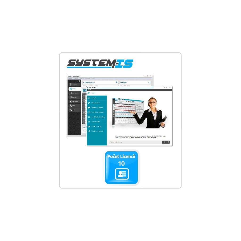 SYSTEM-IS AMS - dochádzkový systém pre 10 zamestnancov