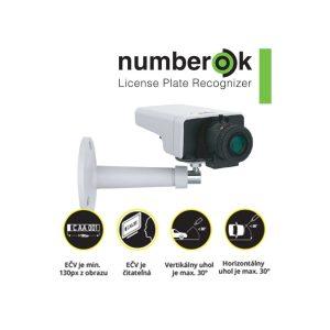 Interiérový kamerový Set AXIS na identifikáciu evidenčných čísel vozidiel