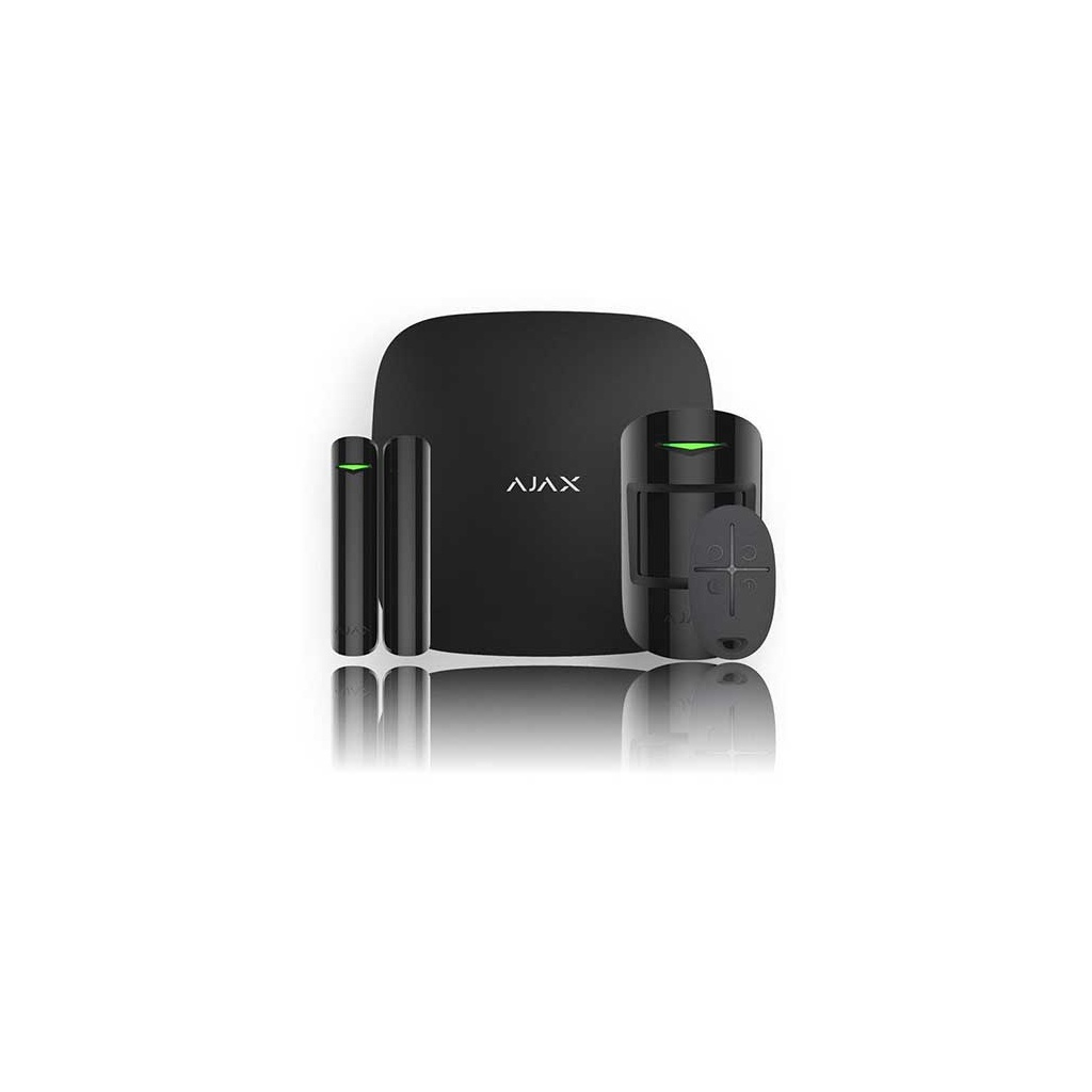 Ajax Hub Kit Plus- Set Ústredňa bezdrátového GSM/IP alarmu - Čierna